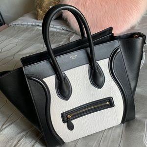 Céline Bicolor Mini Luggage Tote